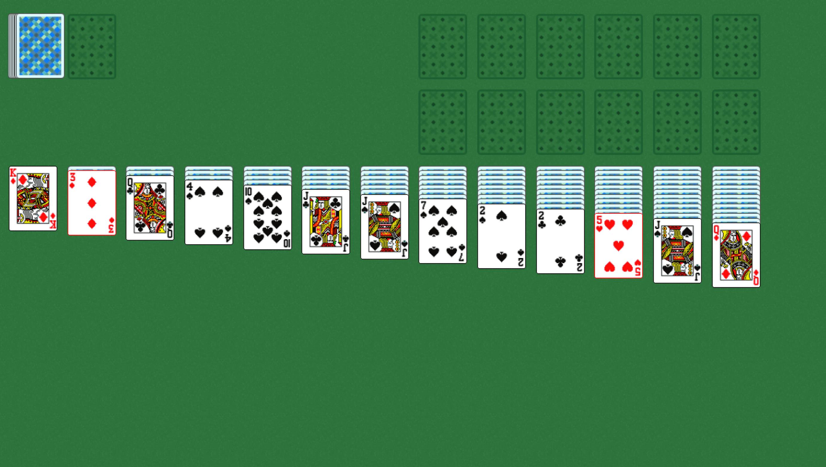 играть в карты косынка тройная по три карты